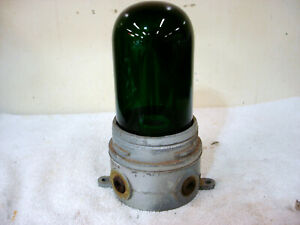 Hubbell Killark Industrial Light Fixture Explosion Proof Green Globe Glass