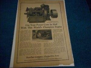 Hart Parr Co. Charles City IA 1927 Advertisement 50HP Stationary Engine Featured