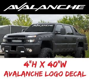Avalanche Windshield Truck Window Decal Sticker Chevy Chevrolet Usdm Tailgate