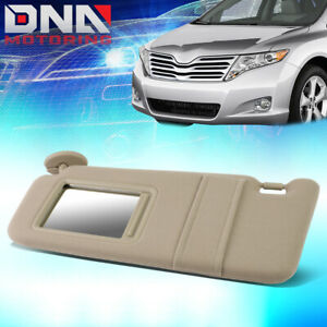 For 2009 2016 Toyota Venza Factory Style Tan Left Driver Side Sun Visor W Mirror