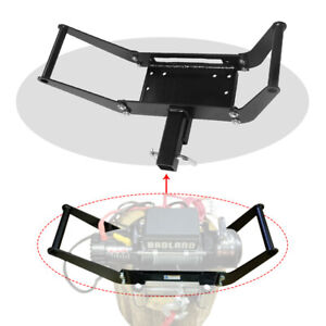 2 Hitch Receiver 4wd Suv Truck Foldable Winch Mounting Plate Cradle Mount