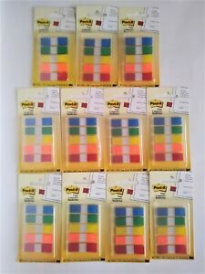 11 3m Post It Flags 5 Colors 47 X 1 7 100 Ct Each Total 1100 Flags