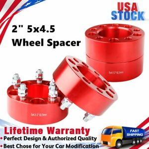 4x 2 Wheel Spacers Adapters 5x4 5 For Jeep Wrangler Tj Yj Xj Kj Kk Zj Mj