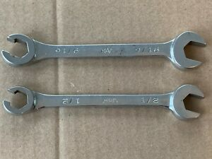 Mac Tools Cob 16 18 Lot Of 2 Combinaton Open End Flare Nut Wrenches