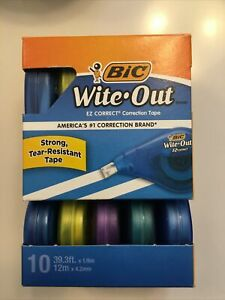 Wite out Ez Correct Tape Correction Tape 10 Pack White Out Bic Whiteout