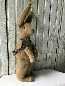 Primitive Standing Rabbit Bunny Grungy Hand Stitched 16 Spring Easter