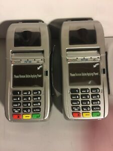 2 New First Data Fd130 Credit Card Chip Terminals No Power Cords