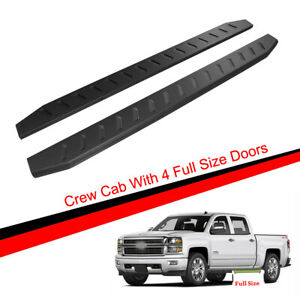 83 Flat Running Boards Fit 99 18 Silverado sierra Crew Cab Side Bar Nerf Bars