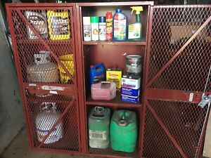 Agricultural Pesticide Propane Storage Locker Safety Cages Security Cabinet