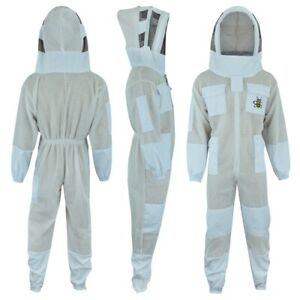 Professional Three Layer Bee Ultra Ventilated Fencing Veil Beekeeping Suit l