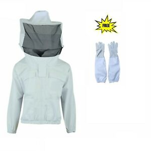 Protective Best Quality Cotton Beekeeping Round Veil Bee Jacket 3xl