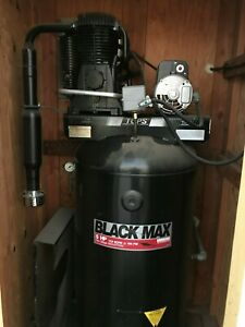 Sanborn Blackmax 80 Gallon Air Compressor 5hp 2 Stage 230v W Outdoor Shed