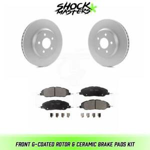 Front G coated Rotor Ceramic Brake Pads For 2005 2014 Ford Mustang