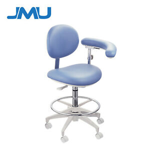 Dental Chair Medical Doctor s Stool Adjustable Mobile Chair Pu Leather Backrest