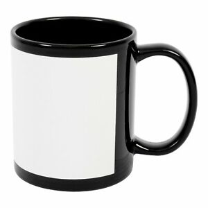 Blank 11 Oz Black Mugs For Sublimation Heat Press 36 Piece Case