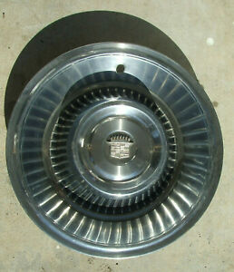 1963 1964 Cadillac Hubcap Hub Cap Wheel Cover Stainless Very Nice