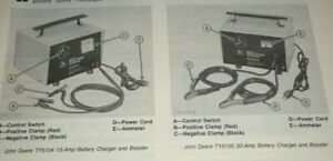 John Deere Ty5104 Ty5105 Battery Charger Booster Operators Owners Manual Jd Oem