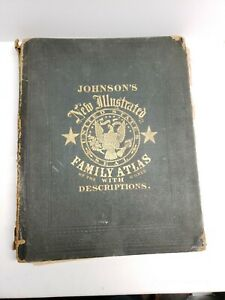 Johnson S New Illustrated Family Atlas Of The World With Descriptions 1866