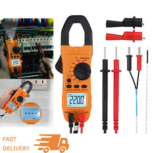 6000 Counts Trms Digital Clamp Meter Multimeter Ac dc Volt Capacitance Tester Us