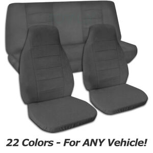 Solid Color Car Seat Covers For Any Car truck van suv jeep Full Set Front