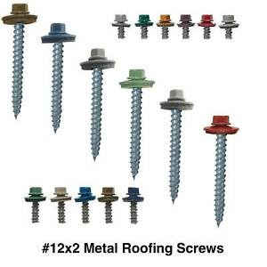 12 Regrip Hex Head Sharp Point Sheet Metal Roofing Screws 250
