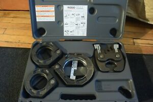 Ridgid Press Ring Set Jaws 2 1 2 Through 4 Model Xl Clean