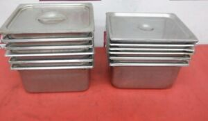 12cnt 1 2 Size Stainless Steel Steam Pan With Lids Hotel Pans