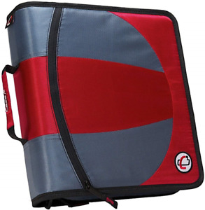 Case it Dual 2 in 1 Zipper D ring Binder 2 Sets Of 1 5 inch Rings With Pencil