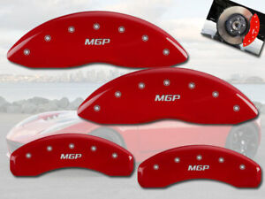 2012 2020 Tesla S Front Rear Red Mgp Brake Disc Caliper Covers 4pcs Brembo