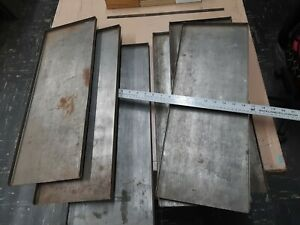 Letterpress Galleys For Storage Of Metal Type Plates Printing