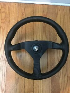 Vintage Momo Steering Wheel With Hub Porsche Center Cap