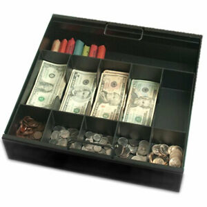 5 Cash 5 Coin Tray With Extra Storage Black