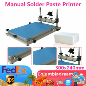 Manual Solder Paste Printer Pcb Smt Stencil Printer S Size Platform 300x240mm