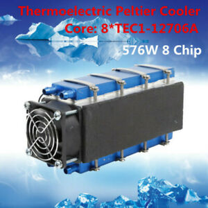 Diy Thermoelectric Cooler Refrigeration Device 576w 8 chip Tec1 12706 Us Stock