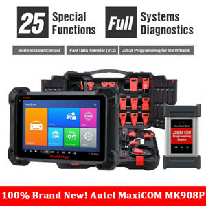 Autel Mk908p Car Fault Diagnostic Scan Tool J2534 Ecu Programming For Bwm Benz