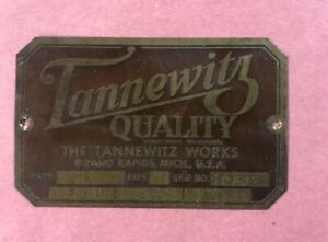 Tannewitz Sliding Tilting Arbor Tsw 250 Table Saw Nameplate Name Plate Badge