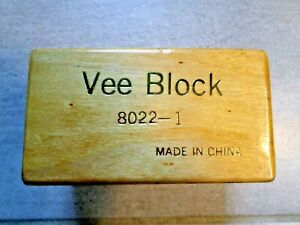 Vee Block Set 8022 i Hardened Steel Original Timber Case