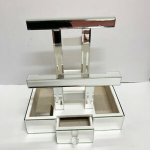 Mirrored Bracelet Bars Tray Open Box Jewelry Holder Retail Store Display