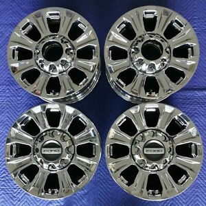 Ford F250 Oem 18 Chrome Wheels Tpms Lugs 2020 Excellent Condition
