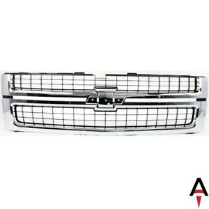For 07 10 Silverado 2500 3500 Hd Chrome Grille With Black Insert Fit Gm1200608