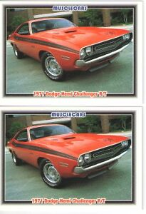 1971 Dodge Challenger R T 426 Hemi Baseball Card Sized Cards Lot Of 2