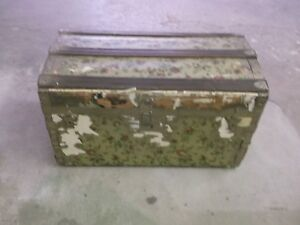 R N Woollett Celebrated Theatrical Trunk chest Antique