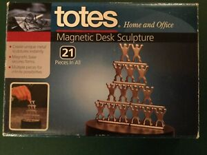 Totes Magnetic People Sculpture Steel Office Desk Toy Stress Relief Fidget