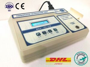 New 1 3mhz Ultrasound Therapy Cont Pulse Dual Applicator Ce Certified Machine