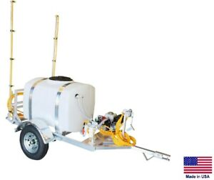 Sprayer Commercial Trailer Mounted 9 5 Gpm 18 Ft Boom 200 Gallon Tank