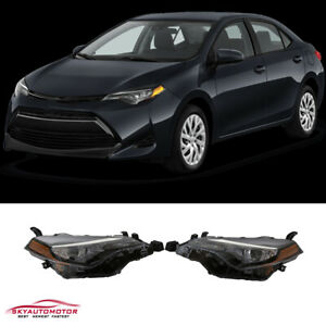 Fits 2017 2018 2019 Toyota Corolla L Le Eco Headlights Led Pair