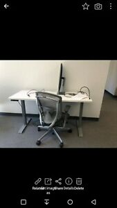 Steelcase Electronic Height Adjustable Office Desk 24 x60