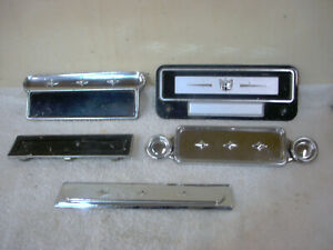 5 Vintage1950s Chrysler plymouth dodge Radio Delete Plates Rat Rod