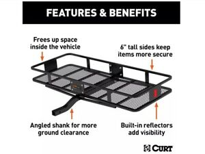 Curt 18152 500 Lbs Capacity Basket Trailer Hitch Cargo Carrier Fits 2 Inch Rec