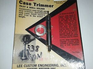 Vintage Lee Hand Priming Tool 338 Win.quot;Pilot and Shell holder $11.99